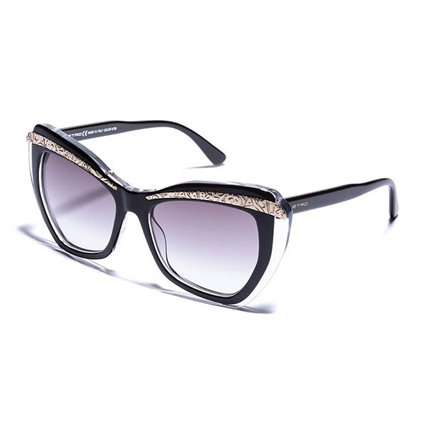 Etro occhiali da sole neri a farfalla 171d2x65128520042 12 for Occhiali neri da sole